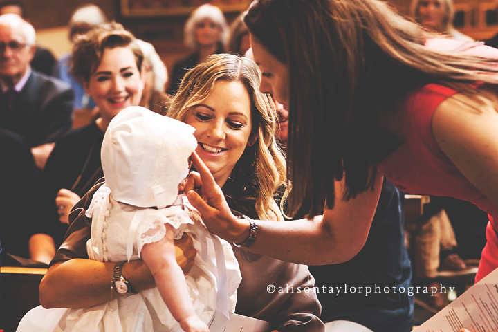 Photo of a baby's christening