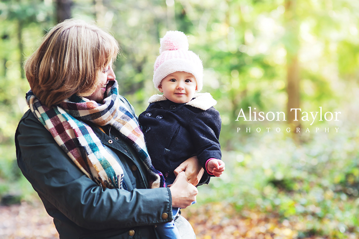 photo of a mother and her daughter in the woods during a family photo shoot in Bristol