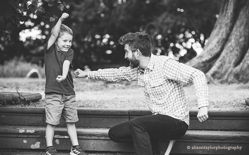 father and his son playing - family photos bristol