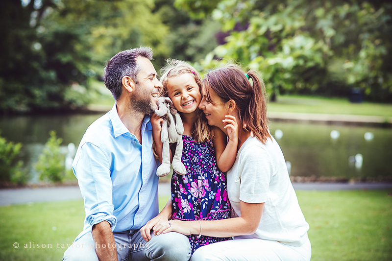 a family  portrait in the park - family photographer cheltenham