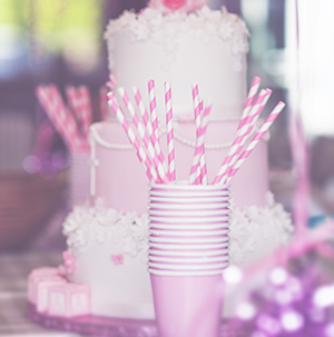 christening baptism photography - pink party decoration
