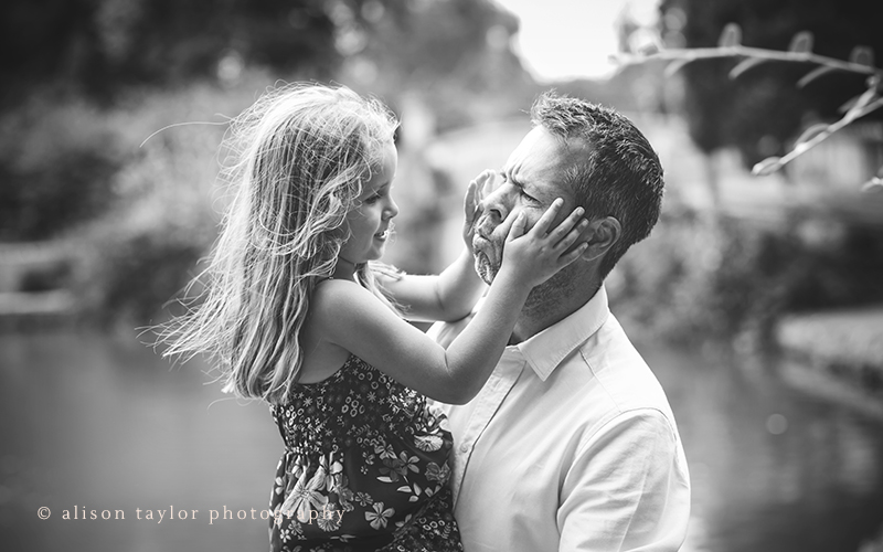 Father and daughter - family photographer cheltenham