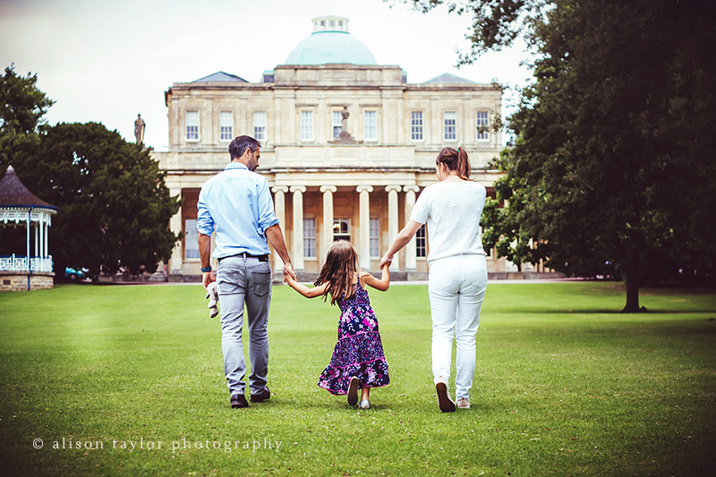 family walking - family photographer cheltenham