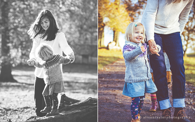 photo of mother and daughter during an autumn photo session