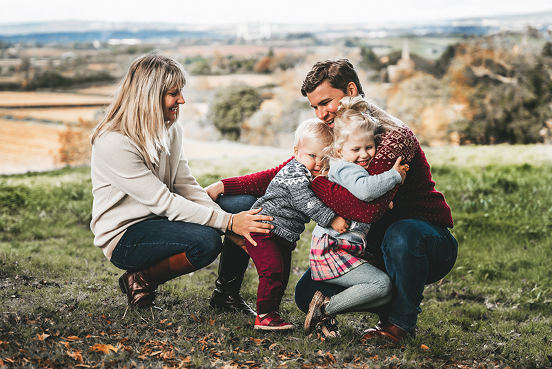 Family photo session at Old Down Country Park Bristol